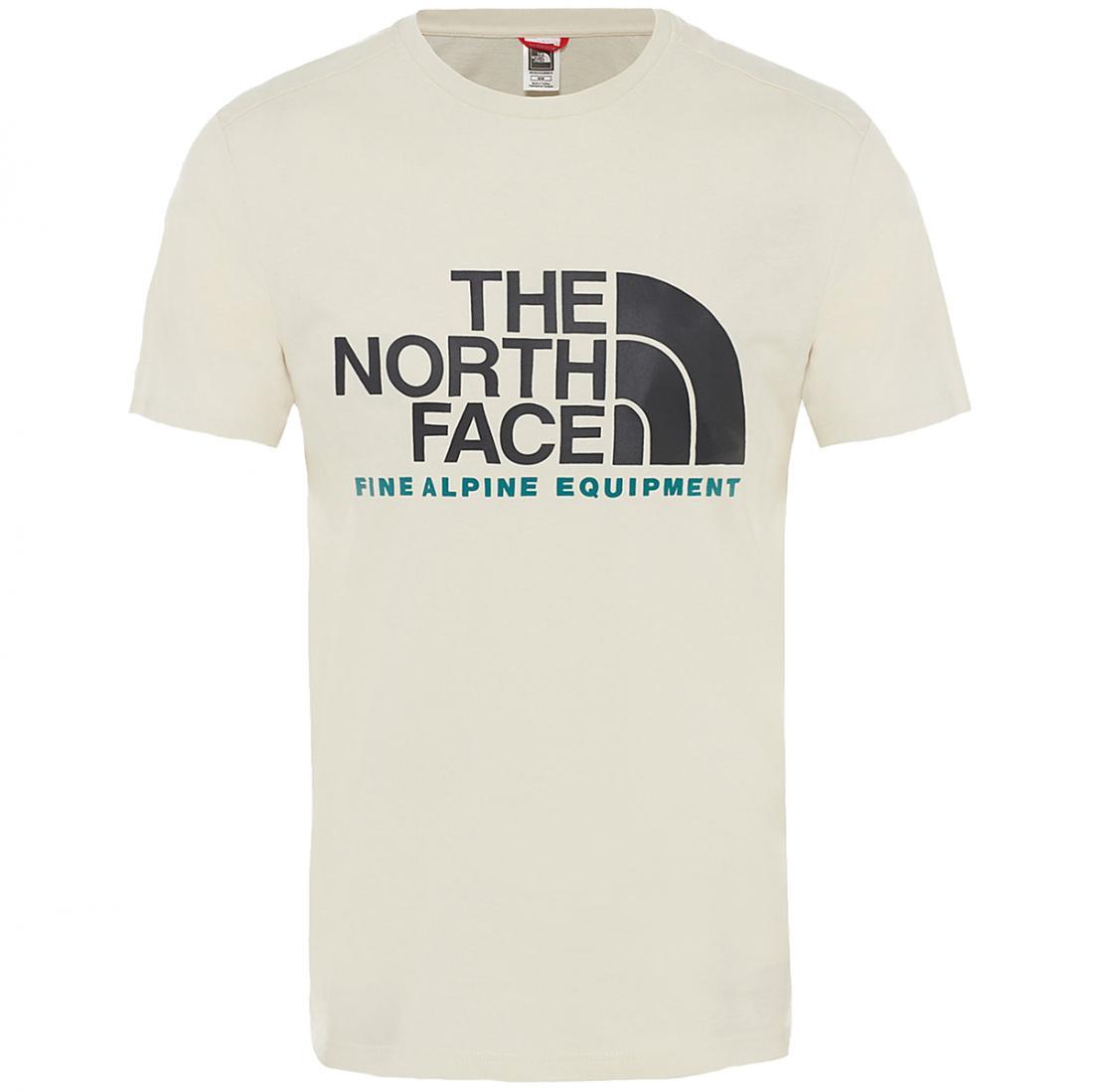 мужская футболка the north face, бежевая