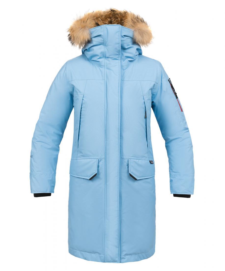 женская куртка red fox, голубая