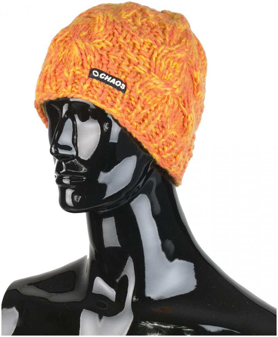 женская шапка chaos, оранжевая