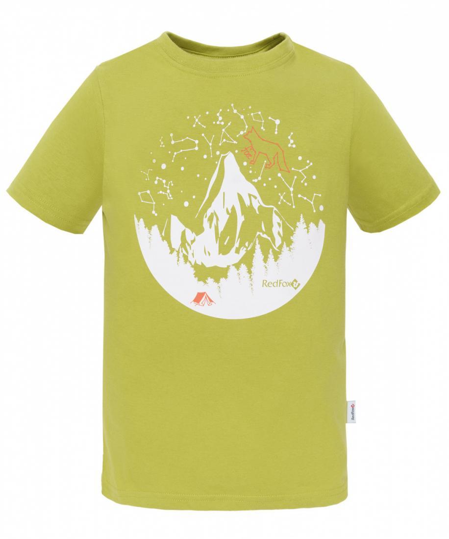 детская футболка red fox, зеленая