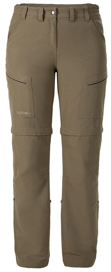 женские брюки red fox, коричневые