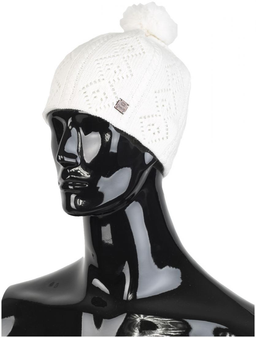 женская шапка chaos, белая