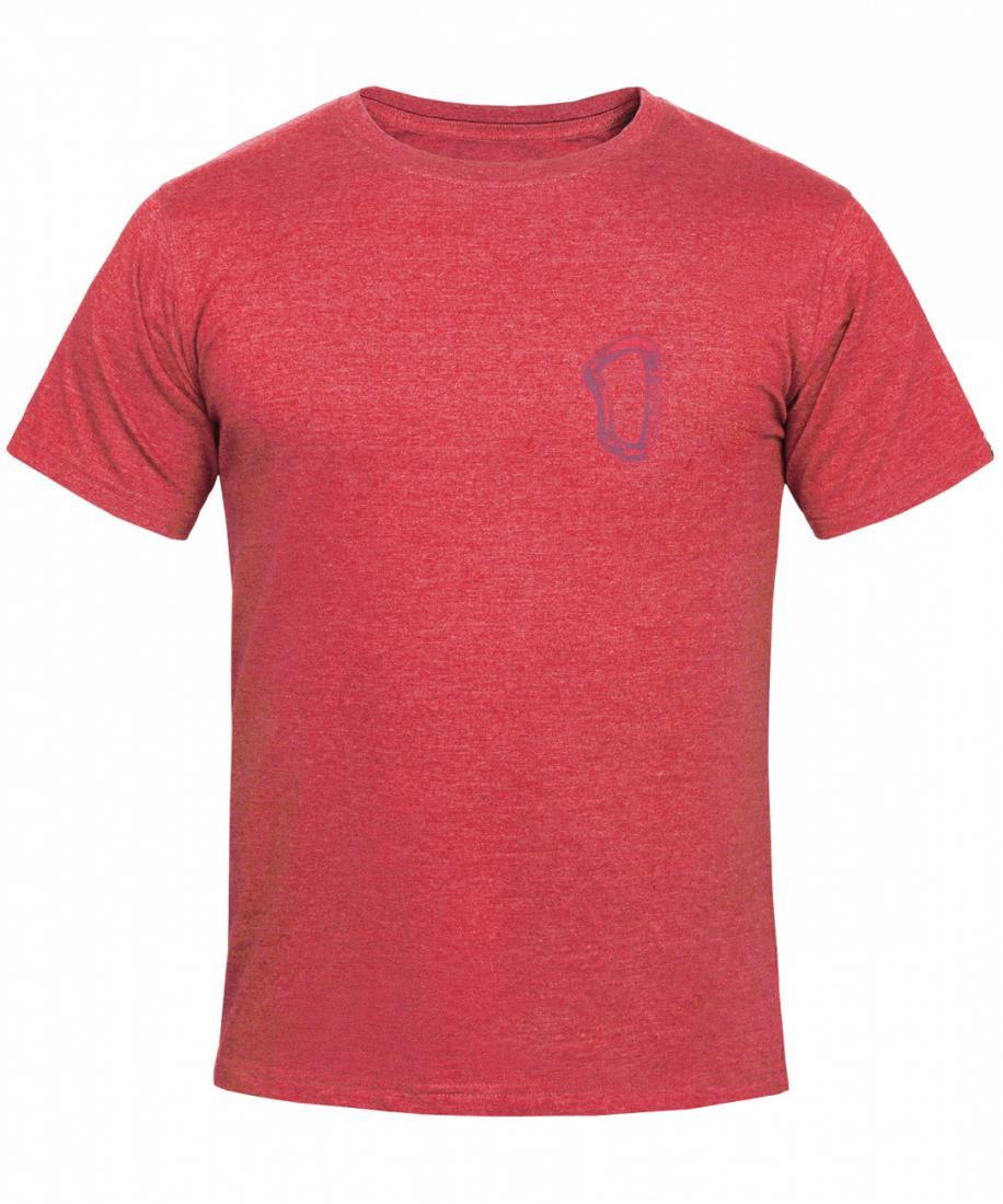 мужская футболка red fox, красная