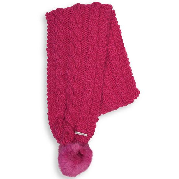 женский шарф chaos, малиновый