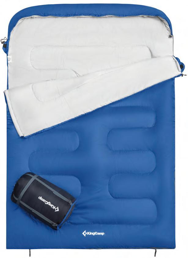 3223 OASIS 250D -3C спальный мешок (синий)