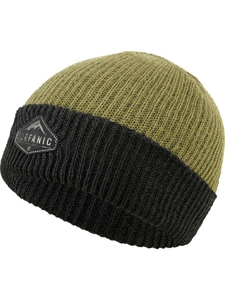 мужская шапка surfanic, зеленая