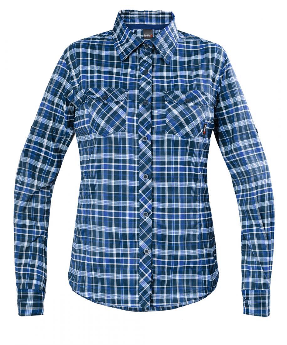 Рубашка Vermont LS Женская Red Fox (50, 9100/т.синий, , , SS17)