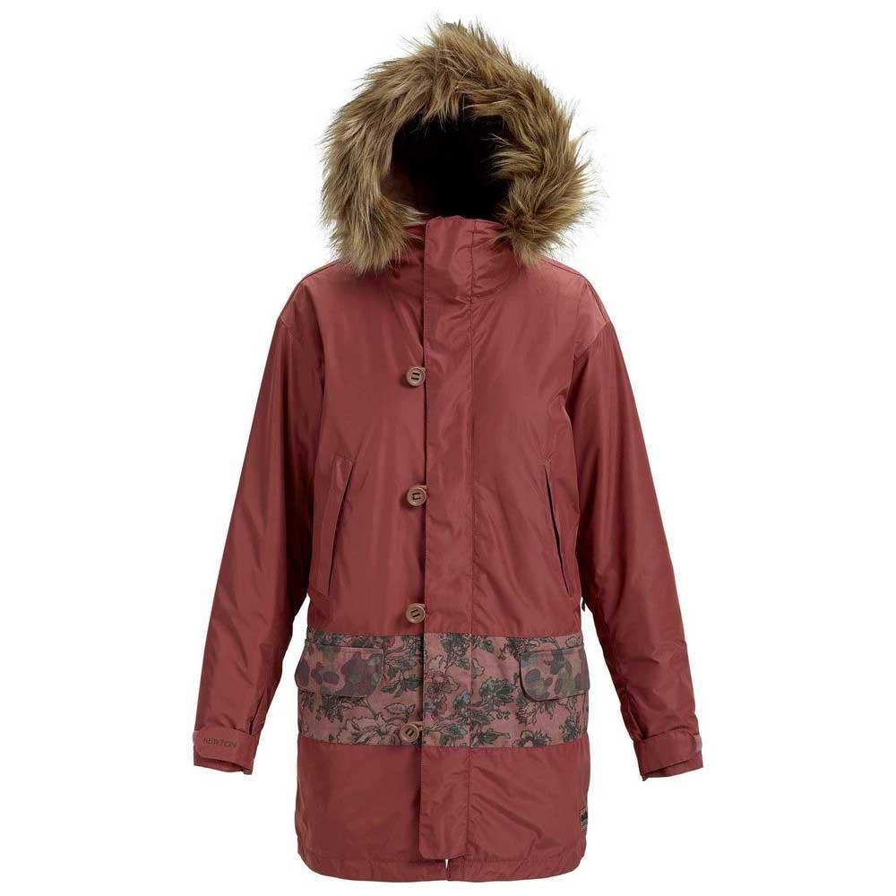 женская куртка burton, бордовая