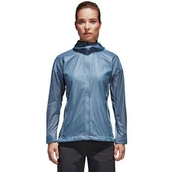 женская ветровка adidas, синяя