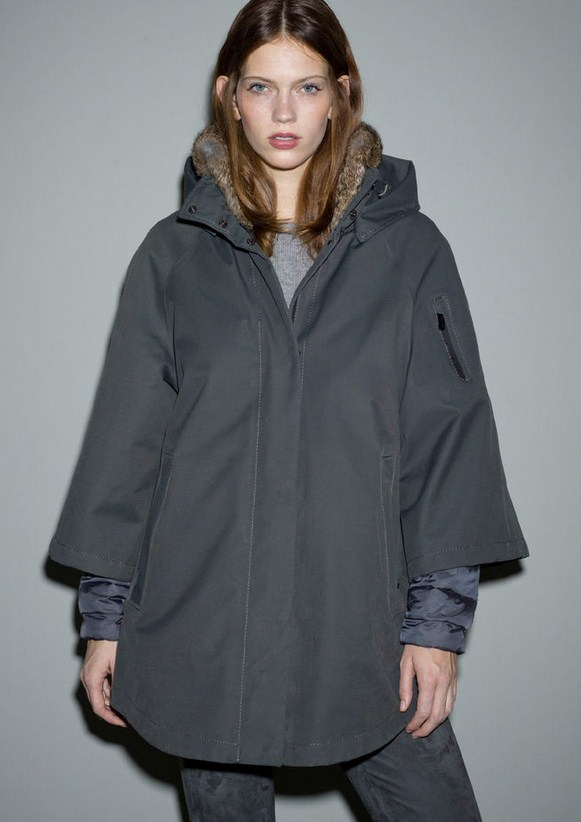 фото Куртка утепленная с мехом женская Nuage