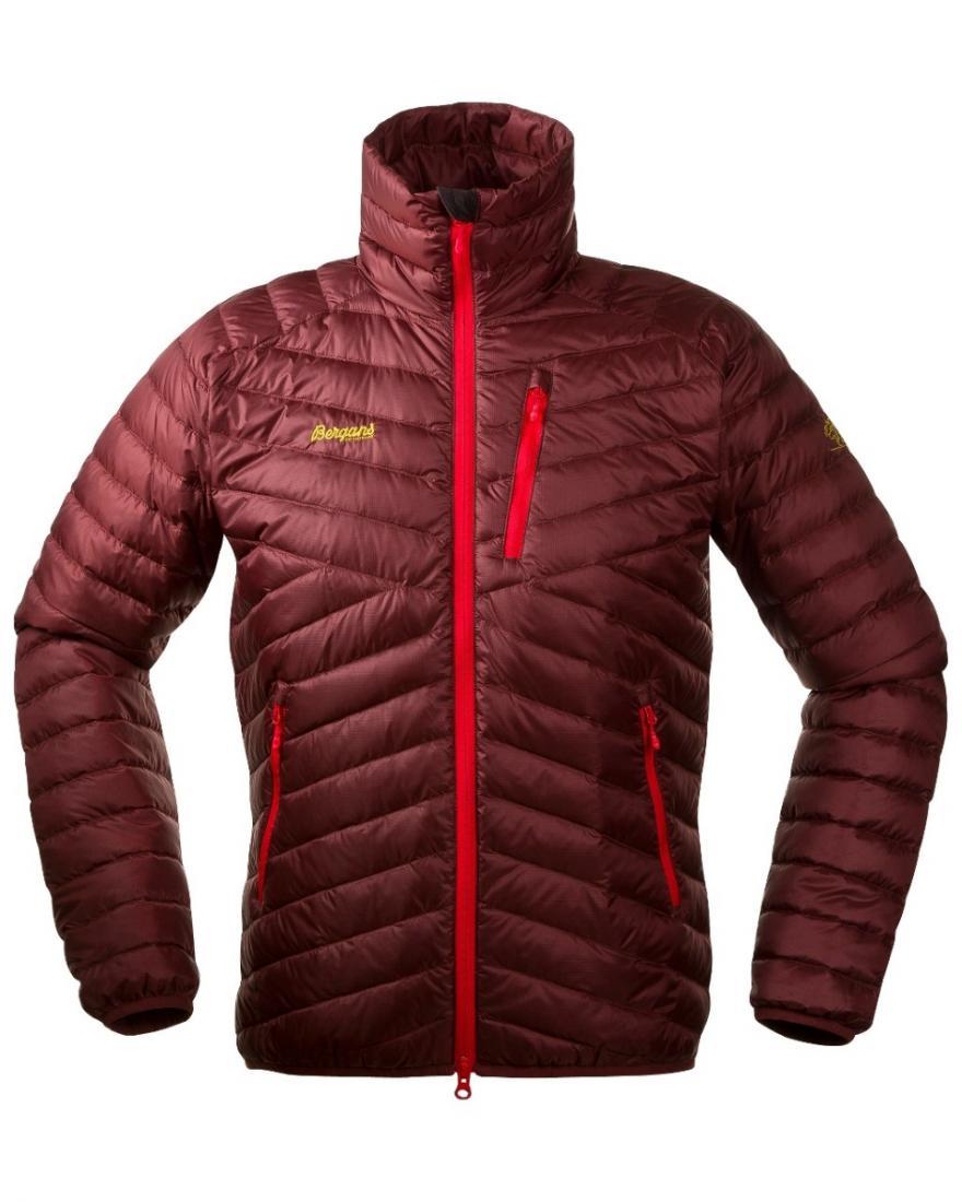 *Куртка Slingsbytind Down Jkt Bergans бордового цвета