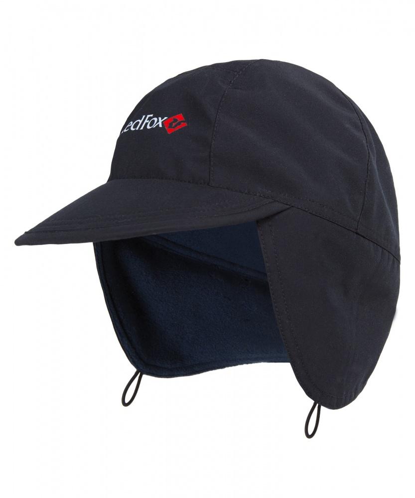 женская шапка red fox, черная