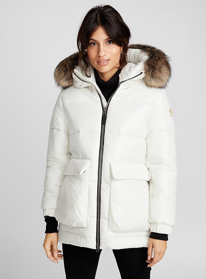 женская куртка kanuk, белая
