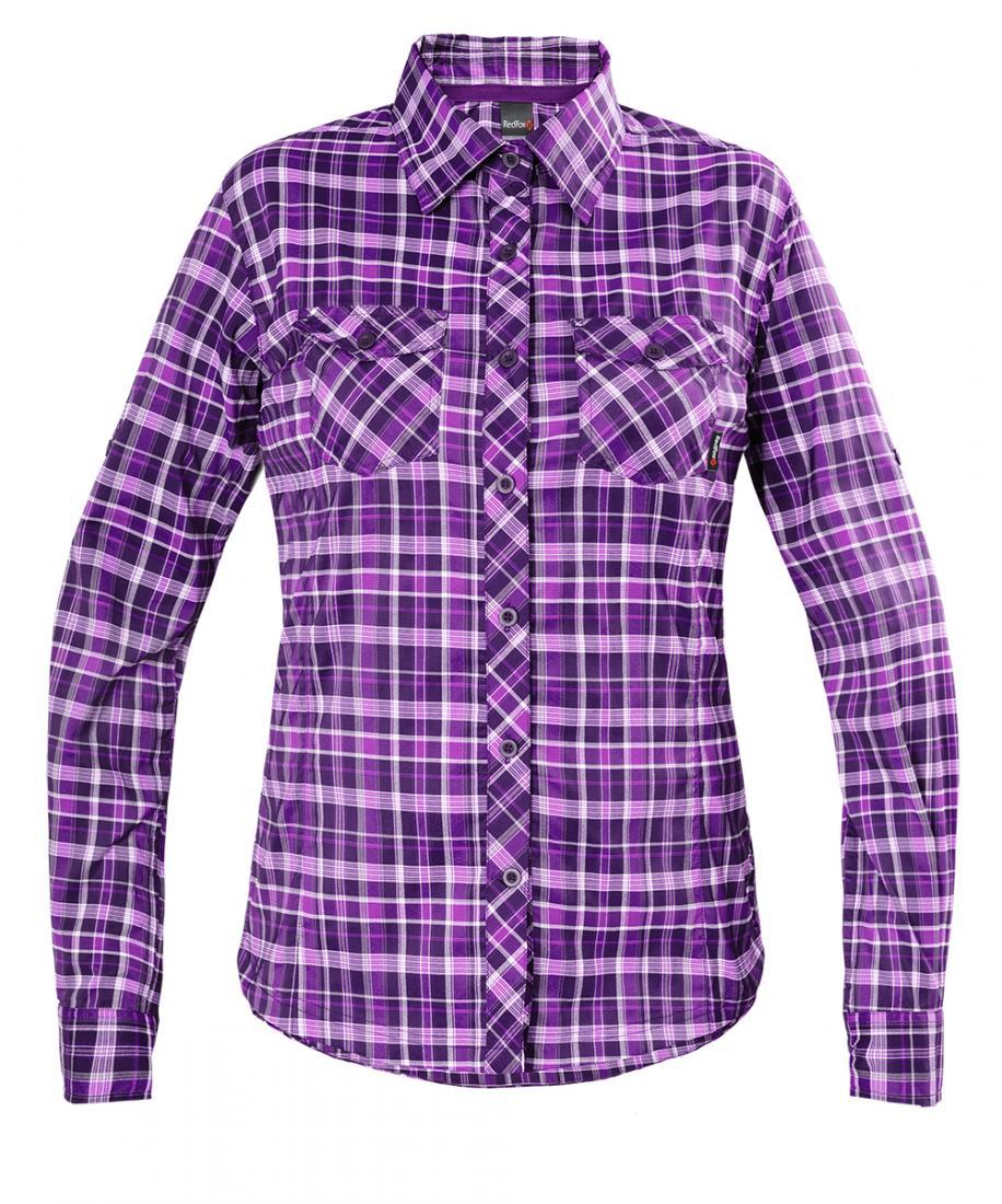 Рубашка Vermont LS Женская Red Fox (50, 9400/фиолетовый, , , SS17)