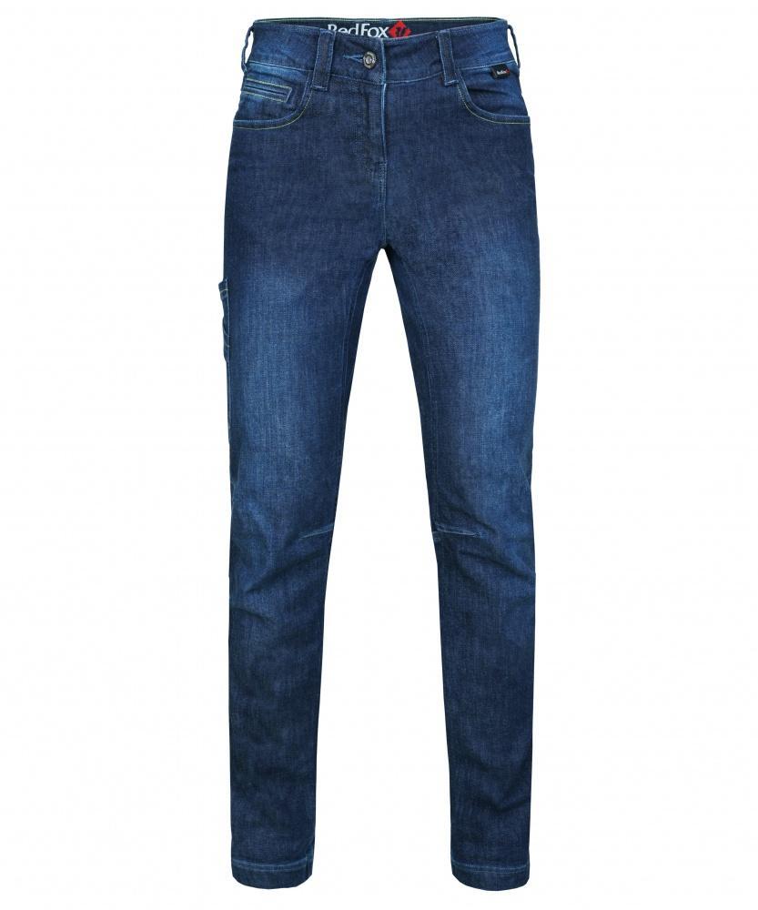 женские брюки red fox, синие