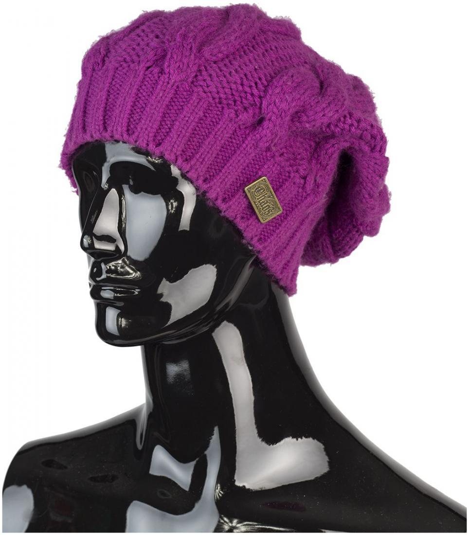 женская шапка chaos, фиолетовая