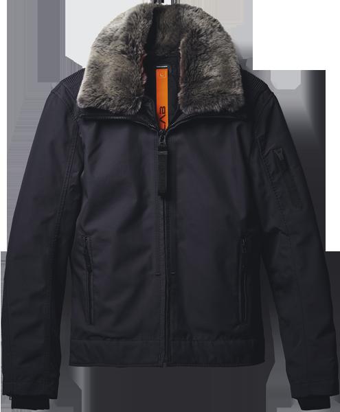 фото Куртка утепленная с мехом мужская Moto