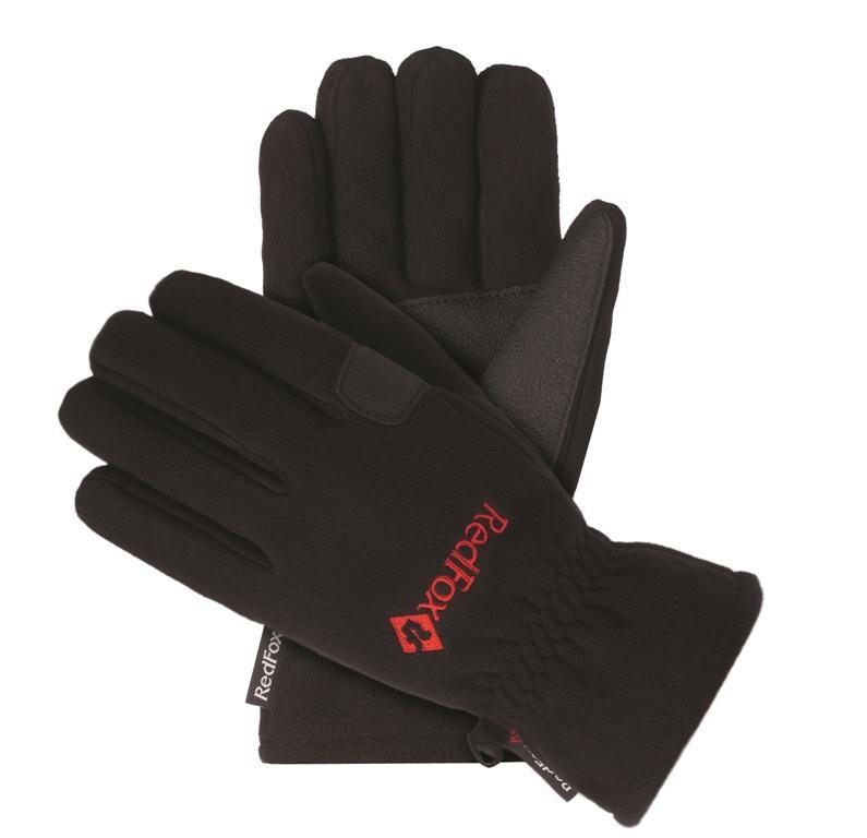 мужские перчатки red fox, черные
