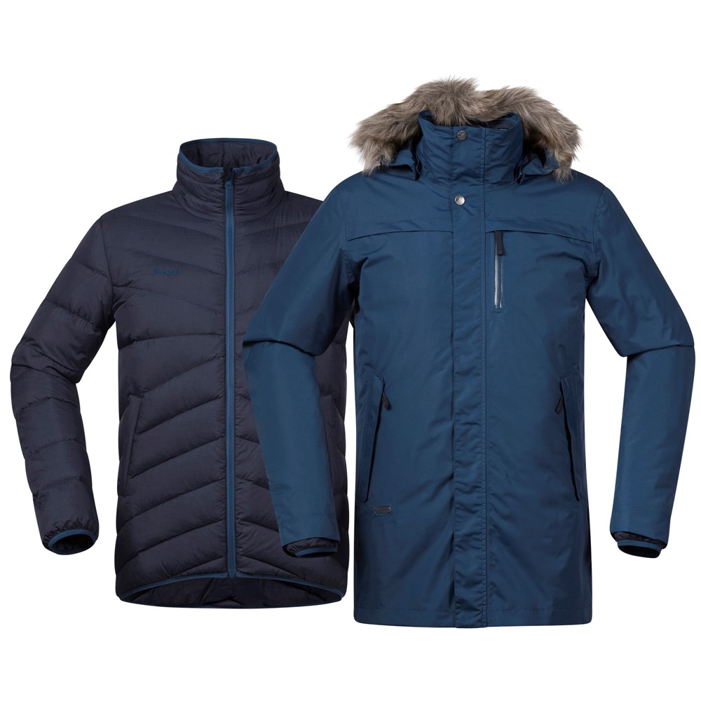 *Куртка Sagene 3in1 Jkt Bergans темно-синего цвета