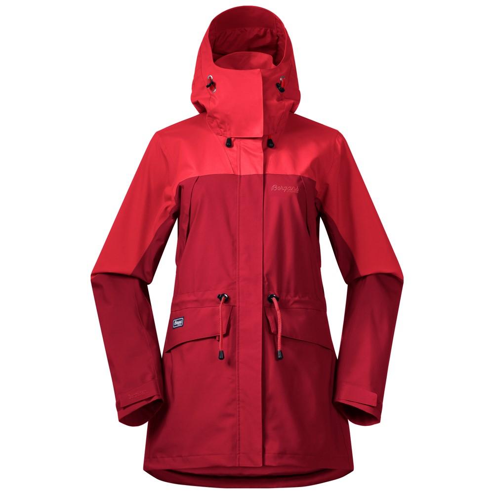 женская куртка bergans, красная